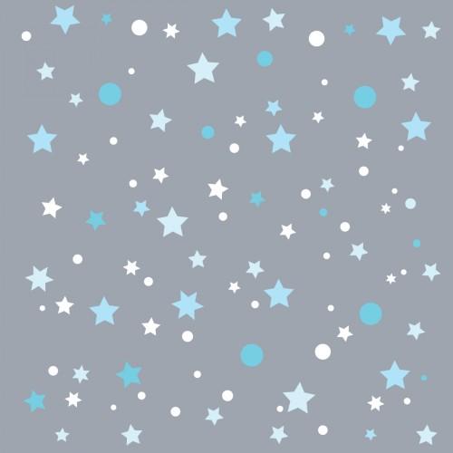 Papier peint gris étoiles de la galaxie bleues