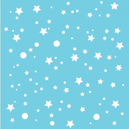 Papier peint bleu turquoise étoiles de la galaxie
