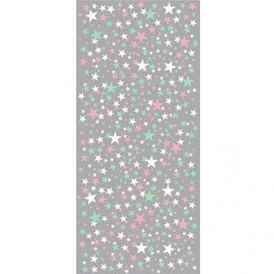 Papier peint étoiles fond gris collection Origami