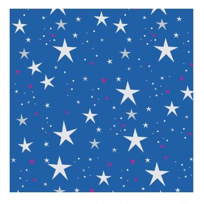 Papier peint étoiles magiques bleu roi