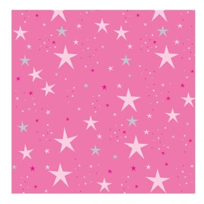 Papier peint étoiles magiques rose fushia