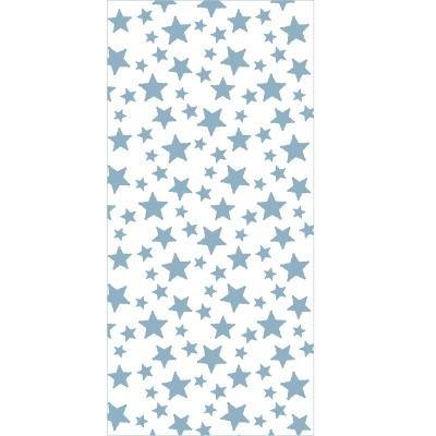 Papier peint étoiles unies bleues