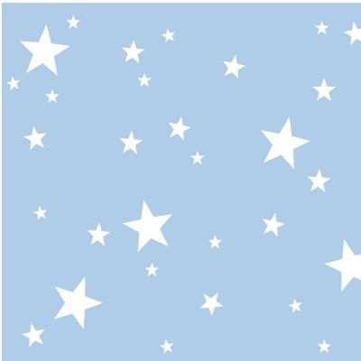 Papier peint  étoiles blanches fond bleu