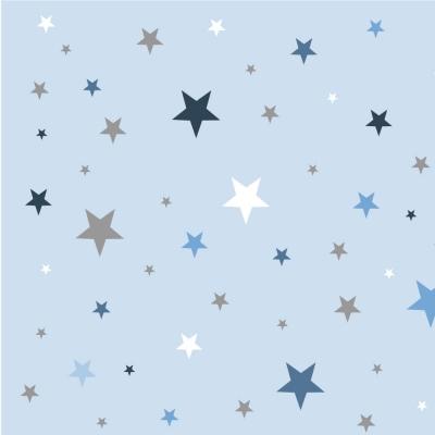papier peint sissi ciel etoile bleu lili pouce. Black Bedroom Furniture Sets. Home Design Ideas