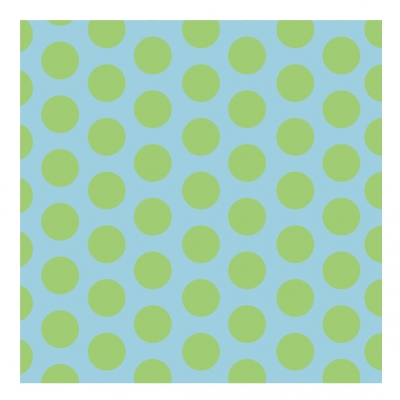 Papier peint bleu à pois verts