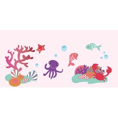 Papier peint décor aquatique fille XL