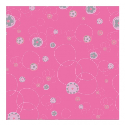 Papier peint floral fushia