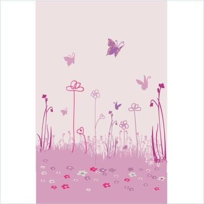 papier peint jardin aux papillons - Papier Peint Fille