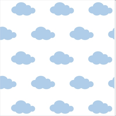 papier peint sissi nuages bleu lili pouce boutique d co chambre b b enfants et cadeaux. Black Bedroom Furniture Sets. Home Design Ideas