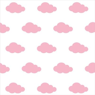 Papier peint nuages roses