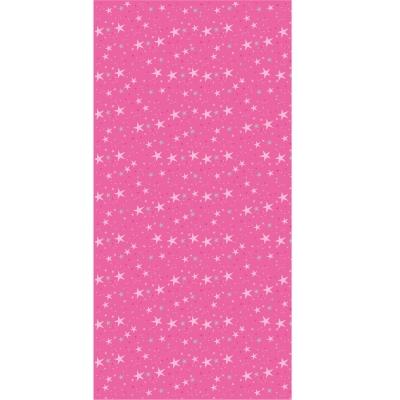 Papier peint petites étoiles magiques roses et grises et fond fushia