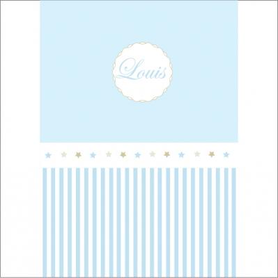 Papier peint rayé bleu et étoiles assorties personnalisable
