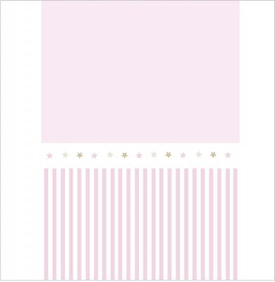 Papier peint rayé rose et étoiles assorties