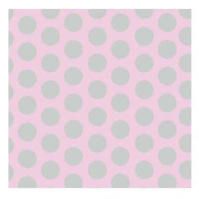 Papier peint rose pois gris lili pouce stickers appliques frises tapis luminaires - Papier peint pois ...