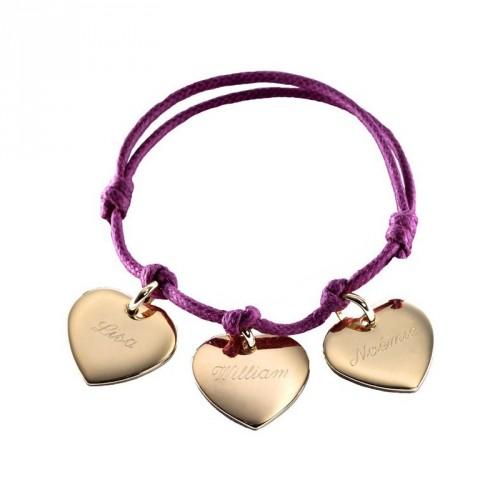 Bracelet Petits Coeurs- plaqué or