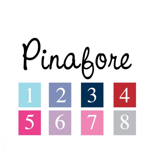 Sticker prénom police Pinafore
