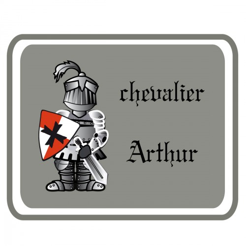 Sticker Plaque de porte chevalier Perceval