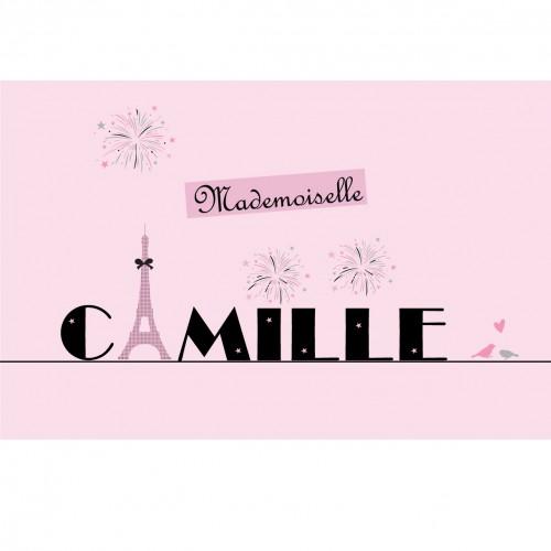 Plaque de porte Mademoiselle Paris personnalisable
