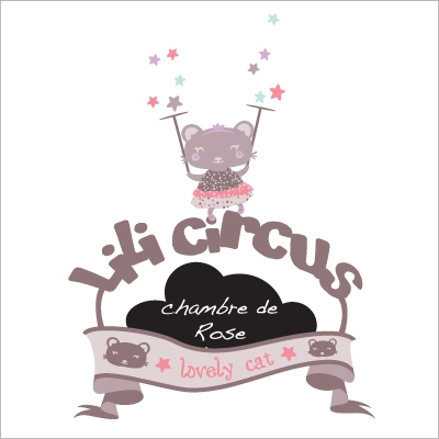 Plaque de porte personnalisable Lili Circus