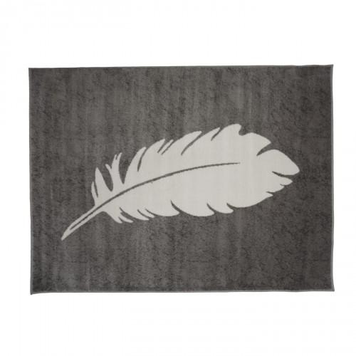 Tapis plume gris