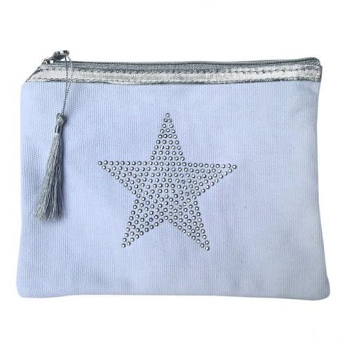 Pochette blanche étoile star personnalisable