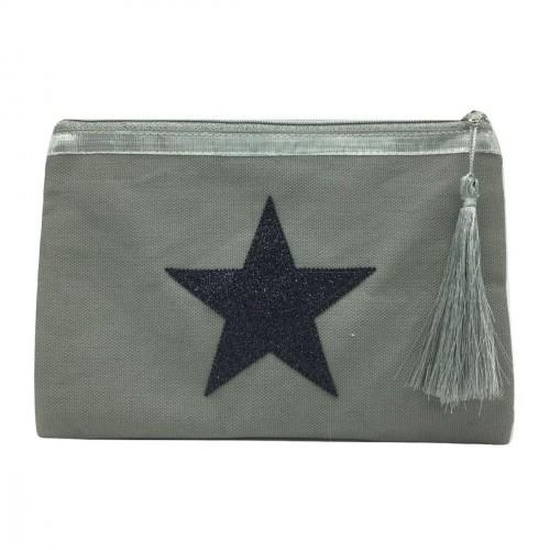 Pochette grise étoile noire personnalisable