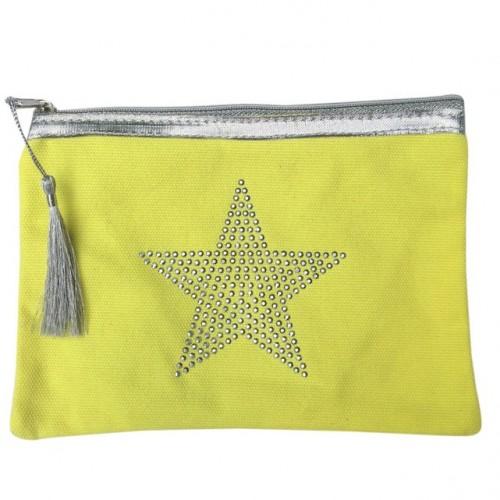 Pochette jaune étoile star personnalisable