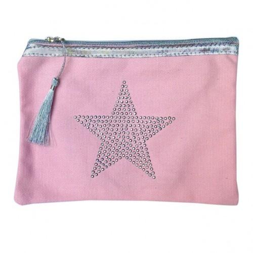 Pochette rose étoile star personnalisable