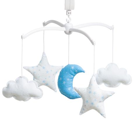 Mobile étoiles magiques bleu