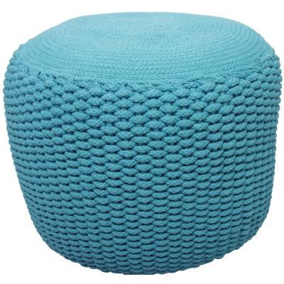Pouf Needle bleu turquoise