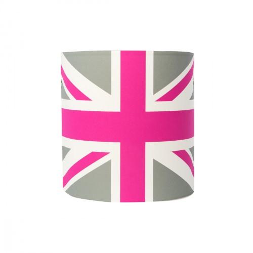 Applique drapeau british rose et gris personnalisable