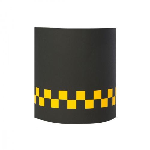 Applique noire damier jaune