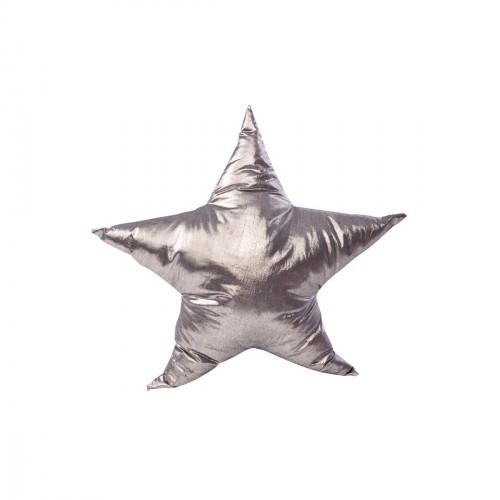 Coussin étoile argent
