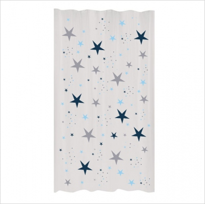 Rideau étoiles magiques bleu marine