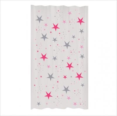 Rideau étoiles magiques fushia