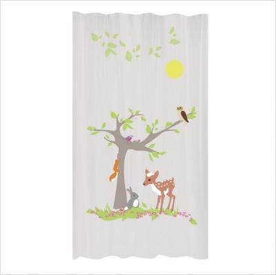 Rideaux arbre de la for t lili pouce boutique d co chambre b b enfants e - Rideau de douche arbre ...