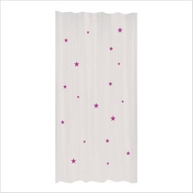 Rideau etoiles pailletees rose