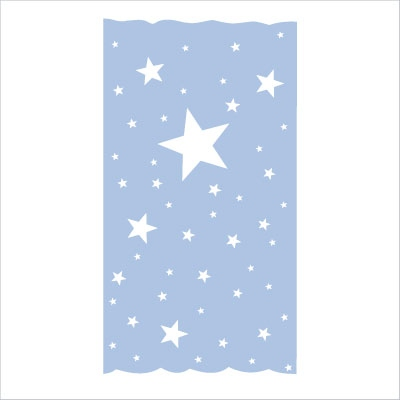 rideau sissi oscar etoiles blanches fond bleu ciel lili. Black Bedroom Furniture Sets. Home Design Ideas