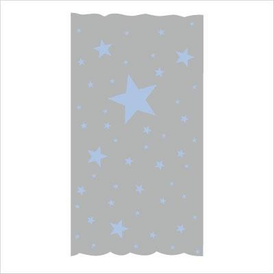 rideau sissi oscar etoiles bleu ciel fond gris lili. Black Bedroom Furniture Sets. Home Design Ideas