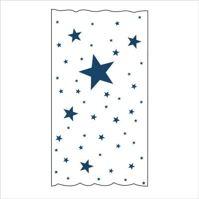 Rideau OSCAR  étoiles marines fond blanc