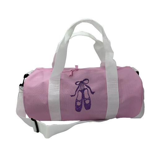 Sac de sport rose chaussons de danse violet paillete personnalisable