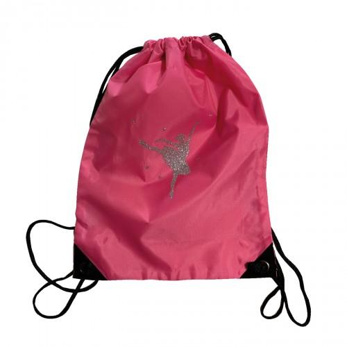 sac à dos danseuse argent pailleté