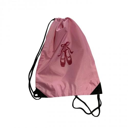 sac à dos chaussons de danse rose personnalisable