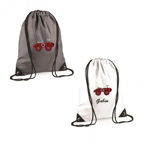 sac à dos voiture rouge personnalisable