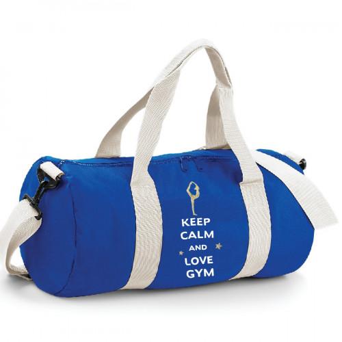 Sac de sport bleu keep calm and love Gym