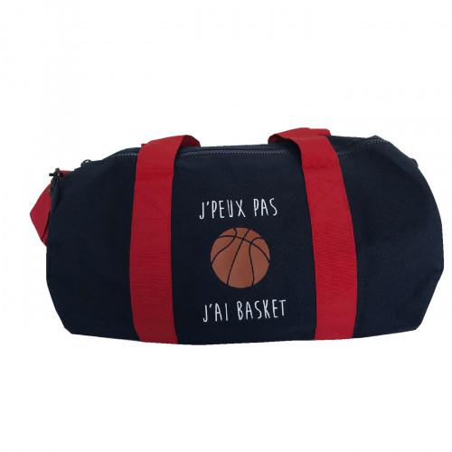 Sac de sport marine rouge Basket personnalisable