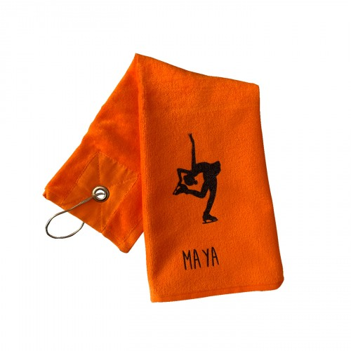 Serviette patinage Maya personnalisable