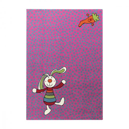 Tapis Rainbow Rabbit rose