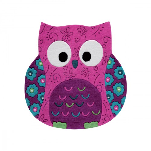 Tapis chouette Little Owl rose
