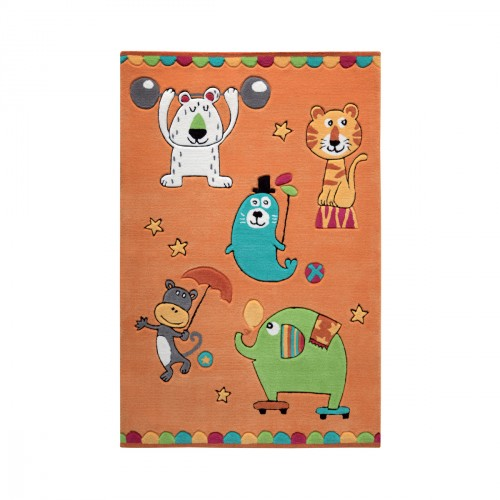 Tapis Little Artists orange